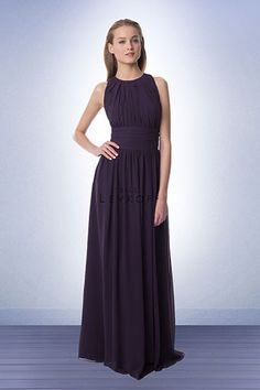 High neck and high back bridesmaids dresses, perfect for fall or winter weddings!