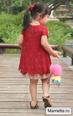 Modelo del verano vestido de piña ganchillo para las niñas (4) (341x541, 181Kb)