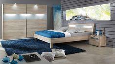 "Schlafzimmerkombination ""Tajana"" / Wood & Blue #bedroom"