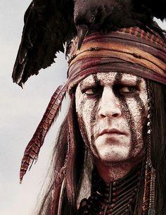 Johnny Depp as Tonto in The Lone Ranger, Dir. Gore Verbinski (2013).