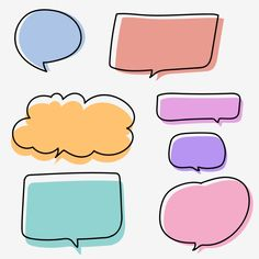 Bullet Journal Notes, Bullet Journal Writing, Bullet Journal Ideas Pages, Journal Stickers, Planner Stickers, Cadre Diy, Dialogue Bubble, Text Bubble, Doodles