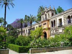 Andalucía, Sevilla, Palacio, Jardín