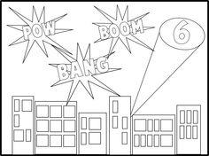 Super Hero Coloring Sheet Idea to keep kids busy? Superhero School Theme, Superhero Birthday Party, School Themes, Classroom Themes, Classroom Activities, Super Hero Coloring Sheets, Puzzle Photo, Library Themes, Beginning Of School