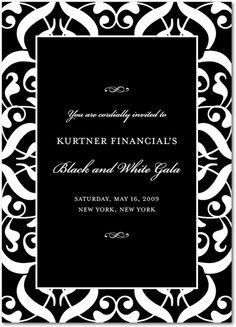 13 best invitation cards images on pinterest invitation cards refined splendor black corporate event invitations stopboris Gallery