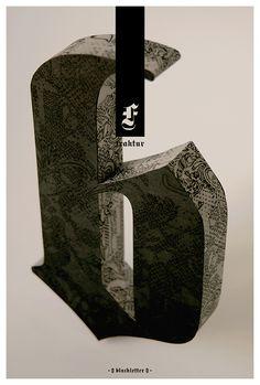 #houseoftype | Tom Davie's lovely work  Blackletter—Typographic Poster