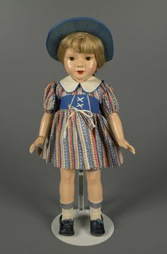 """20"""" composition Anne Shirley doll from the """"American Children"""" series, sleep-eye version, United States, 1938, designed by Dewees Cochran for Effanbee Doll Company."""