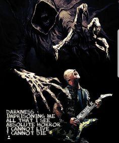 James Hetfield (One) Metallica Quotes, Metallica Black Album, Enter Sandman, Ride The Lightning, Robert Trujillo, Dave Mustaine, Classic Songs, Rock N Roll Music, James Hetfield