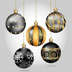 Image result for black christmas decorations images free