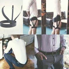 Black Punk Mens Shirt Stays Garters Leg Thigh Elastic Garter Belt Suspender Black for sale online Pliage Pochette Costume, Fashion Mode, Mens Fashion, Fashion Tips, Fashion Photo, Shirt Garters, Shirt Stays, Modest Clothing, Man Stuff