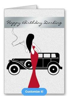 One of a kind stylish birthday card at: http://www.zazzle.com/sophisticated_elegant_chic_woman_happy_birthday-137113240180304529?rf=238623693837530845
