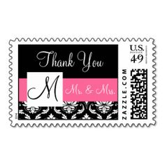 =>>Save on          	Pink, Black Monogram Damask Wedding Thank You Postage Stamps           	Pink, Black Monogram Damask Wedding Thank You Postage Stamps so please read the important details before your purchasing anyway here is the best buyDeals          	Pink, Black Monogram Damask Wedding T...Cleck Hot Deals >>> http://www.zazzle.com/pink_black_monogram_damask_wedding_thank_you_postage-172160424586074541?rf=238627982471231924&zbar=1&tc=terrest