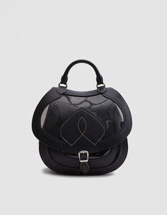 Large Shoulder Bag in Black/Transparent