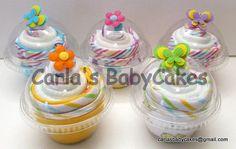 Diaper Cupcake  Baby Shower Gift  New Mom by MsCarlasBabyCakes, $4.75