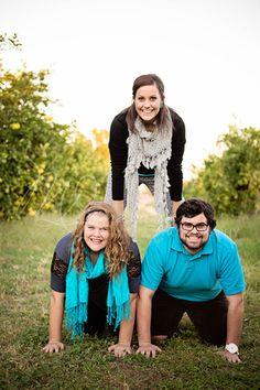 Older sibling fun pose! www.melissadonaldsonphotography.com