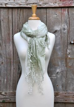 Gypsy 05 Mint Green Scarf - Choix Boutique - Boho Clothing, Vintage Style Clothing & Artisan Jewelry