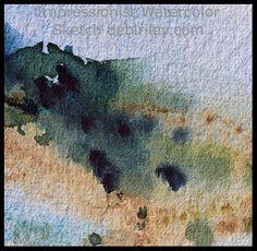 impressionist watercolor landscape, outdoor painting hills, loose colorful landscapes, debiriley.com