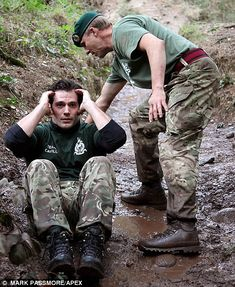 Henry Cavill gasps for air after gruelling 10k mud run as he's put through his paces by the Royal Marines | Daily Mail Online
