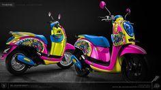Honda scoopy minion adventure    #hondascoopy #scoopy #minion #adventure #mothai #indomothai #numpakscoopypurun #cuttingstiker #3dcuttingsticker #blacksheepstickart #banyuwangi & follow Instagram kami  @ckdsign