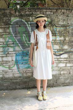 MonMonMori - Mori Girl. Girl Fashion Style, Mori Girl Fashion, Modest Fashion, Fashion Show, Fashion Dresses, Fashion Design, Whimsical Fashion, Vintage Fashion, Mori Mode