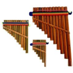 Pan Flute Set of Three Sizes Hand Made Peru Fair Trade Native American Instruments, Dnd Bard, Flute Instrument, Medieval, Pan Flute, Mountain Music, Native American Regalia, Traditional Design, Beautiful Dolls