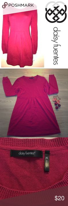 Daisy Fuentes above knee sweater dress Daisy Fuentes above the knee pink sweater dress, size xs excellent condition worn once Daisy Fuentes Dresses Long Sleeve