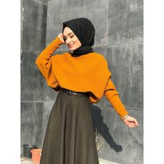 Modern Hijab Fashion, Street Hijab Fashion, Islamic Fashion, Muslim Fashion, Grey Fashion, Modest Fashion, Look Fashion, Fashion Outfits, Hijab Casual