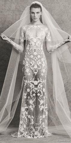 95e257ed167b zuhair murad fall 2018 bridal long sleeves bateau neckline full  embellishment elegant sexy sheath wedding dress