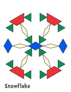 Holiday & Seasonal Pattern Block Templates - Jessica's Corner of Cyberspace Pattern Block Templates, Pattern Blocks, Kindergarten Stem, Colorful Christmas Tree, Christmas Trees, Snowflake Template, 2d And 3d Shapes, Tangram, Math Patterns