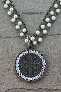 Save 10% by using the discount code GUGREPKCAR at checkout! AB Crystal Coin on Pearl and Chain Necklace www.gugonline.com