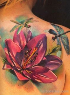 34 Best Flower And Dragonfly Tattoo Images In 2017 Dragonfly