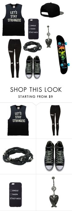 """Untitled #105"" by darksoul7 on Polyvore featuring Topshop, King Baby Studio, Converse and '47 Brand"