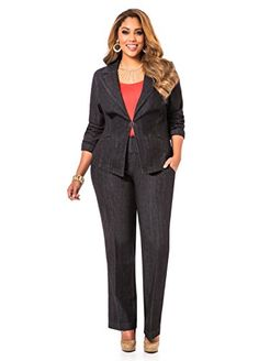 Fashion Bug Women's Plus Size Denim Trousers www.fashionbug.us #PlusSize #FashionBug #Jeans