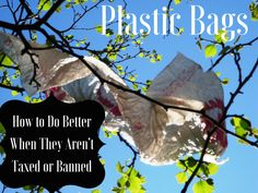 Plastic Bags: How to Do Better When They Aren't Taxed or Banned