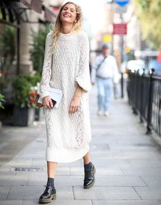 street-style-look-vestido-tricot-e-oxford