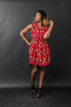 Cocody dress in wax print made by n&a Fashion Wax