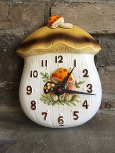 Vintage Merry Mushroom Clock  Sears  Made in by MyVintageAlcove