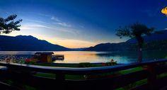 #vistadaltavolo#unapizzainrivaallago#troppobuona#lievitomadre#sunset#lagodicaldonazzo#finalmenteestate  by serenadellacqua
