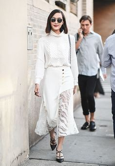 Chriselle Lim is seen outside the Prabal Gurung show during New York Fashion Week Spring 2017 on September 11 2016 in New York City