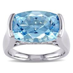 Miadora Sky Blue Topaz and Ring