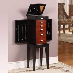 Sumba Yin Yang Jewelry Armoire 5 Drawer -On Special: $155.50 With Free Shipping