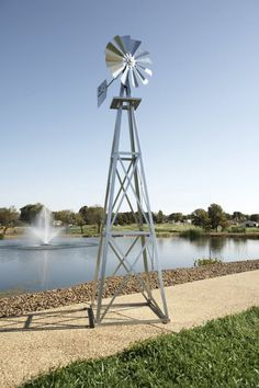 Outdoor Water Solutions 12 Foot Red, White, And Blue Powder Coated Backyard  Windmill | Backyard Windmills | Pinterest | Windmill