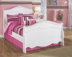 Exquisite Youth Full Size Sleigh Bed in White Color -- Read more reviews of the product by visiting the link on the image.