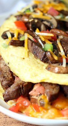 Fajita omlette