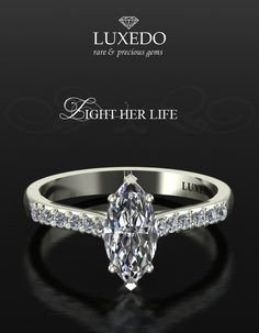 Marquise Diamond white gold ring Choose yours at http://www.luxedogems.com/diamond/