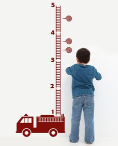 adorable for Nolan Fire Truck Growth Chart by DECOmodwalls. $28.00, via Etsy.