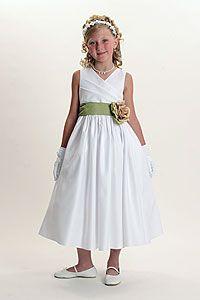 Flower Girl Dresses -Flower Girl Dress Style 6001- BUILD YOUR OWN DRESS! Choice of 139 Sash and 51 Flower Options!