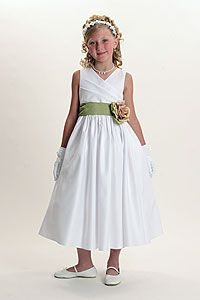 Flower Girl Dresses -Flower Girl Dress Style 6001- BUILD YOUR OWN DRESS! Choice of 139 Sash and 51 Flower Options!