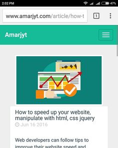 How to speed up website #css #javascript #html #seo  Http://www.amarjyt.com