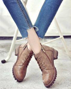 Giày Boot đế chữ Hàn Quốc 5