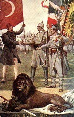 Central Powers propaganda postcard